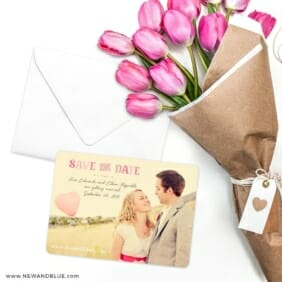 Frolic Save The Date Cards With Envelope