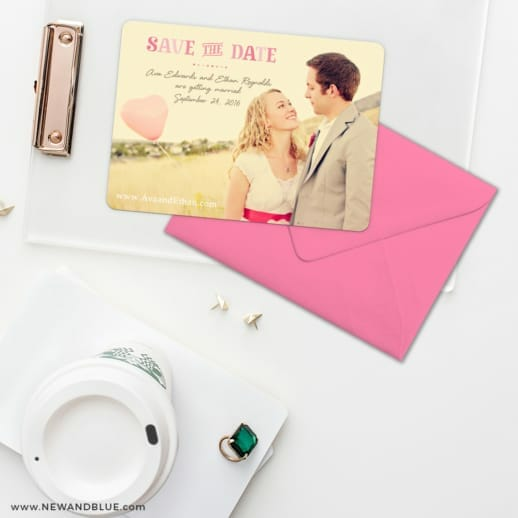 Frolic Save The Date Cards And Optional Color Envelopes
