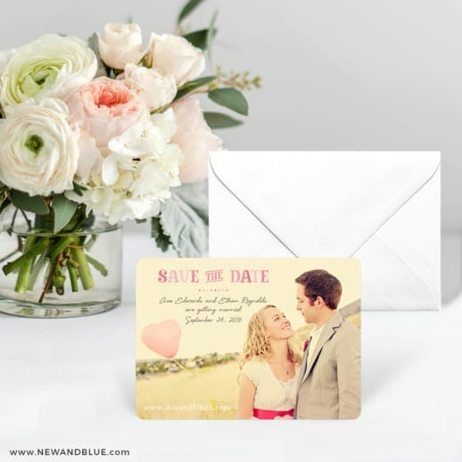Frolic Save The Date Card With Envelope
