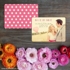 Frolic Save The Date Card With Back Printing