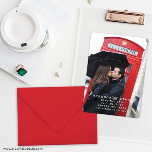 Forest Park Save The Date Cards And Optional Color Envelopes