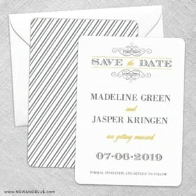 Fly Me To The Moon Save The Date Wedding Card