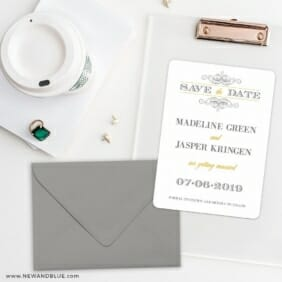 Fly Me To The Moon Save The Date Cards And Optional Color Envelopes