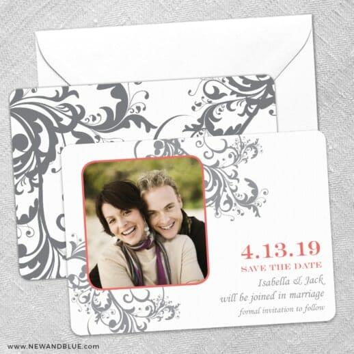 Flourish Save The Date Wedding Card