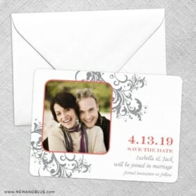 Flourish Save The Date Party Card