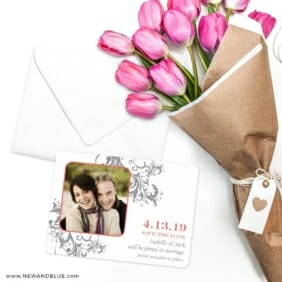 Flourish Save The Date Cards With Envelope