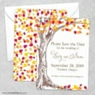 Celebration Of Love Save The Date Wedding Card
