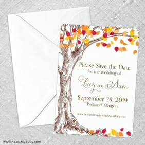 Celebration Of Love Save The Date Party Card