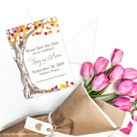 Celebration Of Love Save The Date Cards With Envelope
