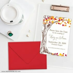 Celebration Of Love Save The Date Cards And Optional Color Envelopes