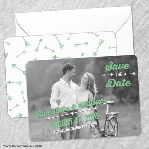 Cape Cod Save The Date Wedding Card