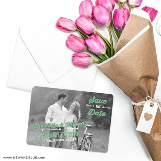 Cape Cod Save The Date Cards With Envelope
