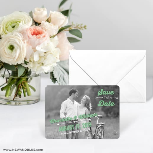 Cape Cod Save The Date Card With Envelope