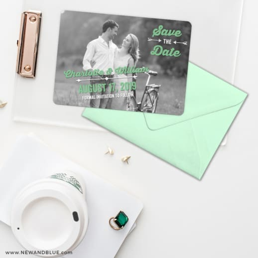 Cape Cod Save The Date Cards And Optional Color Envelopes