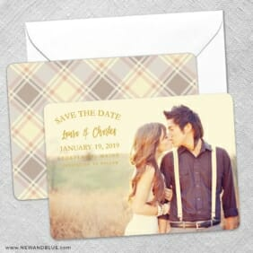 Breaking News Save The Date Wedding Card