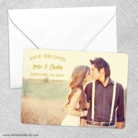 Breaking News Save The Date Party Card