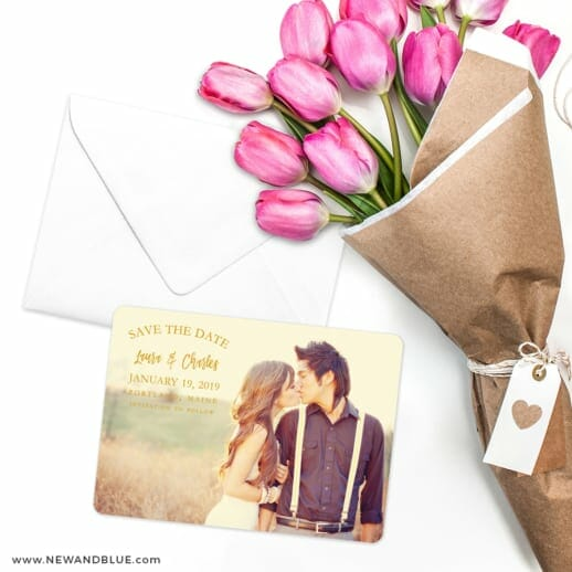 Breaking News Save The Date Cards With Envelope