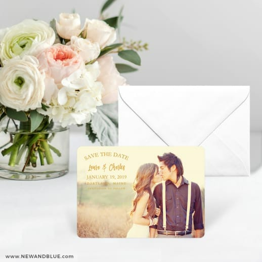 Breaking News Save The Date Card With Envelope