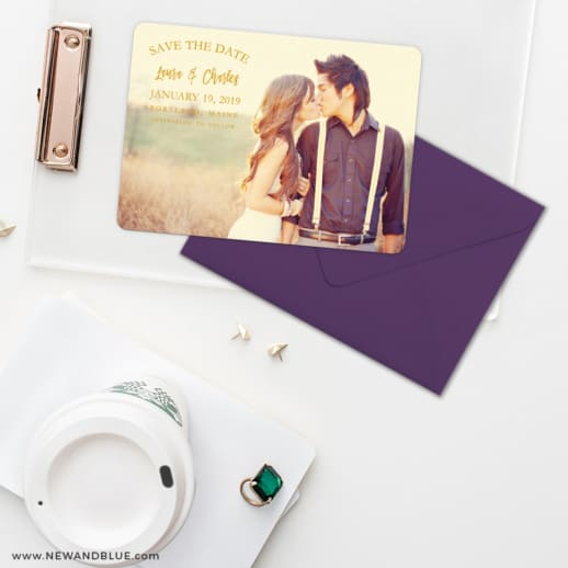 Breaking News Save The Date Cards And Optional Color Envelopes