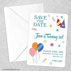 Birthday Bash Save The Date Party Card