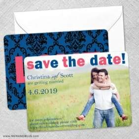 Big Sky Save The Date Wedding Card