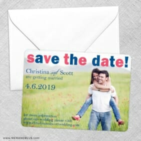 Big Sky Save The Date Party Card