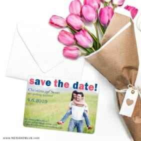 Big Sky Save The Date Cards With Envelope
