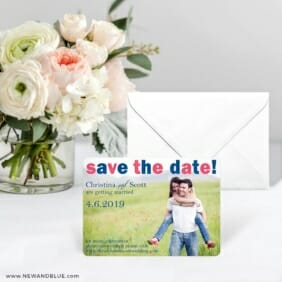 Big Sky Save The Date Card With Envelope