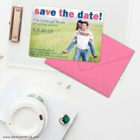 Big Sky Save The Date Cards And Optional Color Envelopes