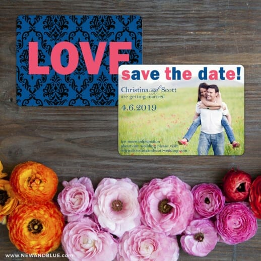 Big Sky Save The Date Card With Back Printing