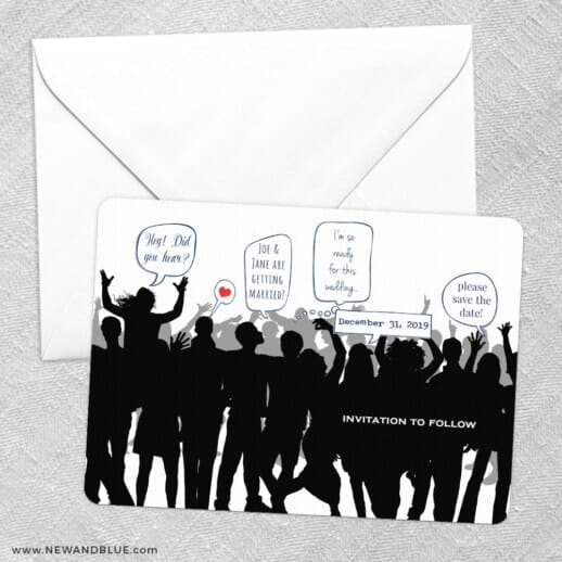 Big Celebration Save The Date Party Card