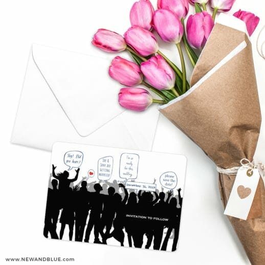Big Celebration Save The Date Cards With Envelope