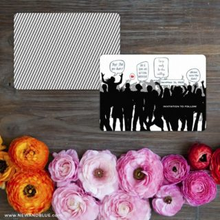 Big Celebration Save The Date Card With Back Printing