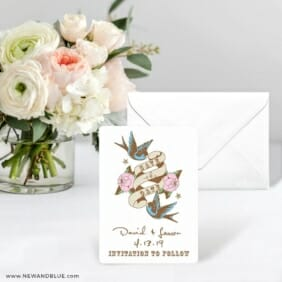 Bettie Save The Date Card With Envelope
