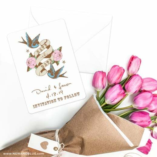 Bettie Save The Date Cards With Envelope