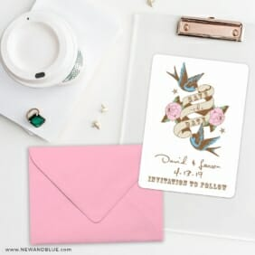 Bettie Save The Date Cards And Optional Color Envelopes
