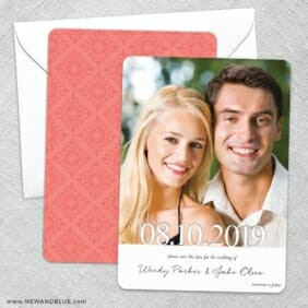 Bask In Love Save The Date Wedding Card