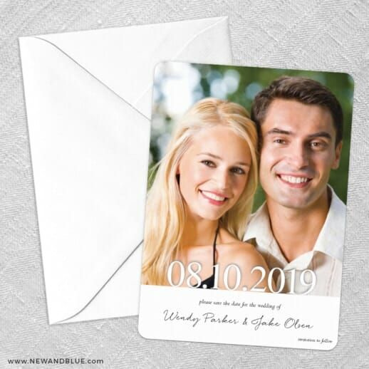 Bask In Love Save The Date Party Card