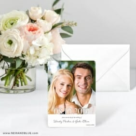 Bask In Love Save The Date Card With Envelope
