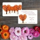 Autumn Romance Save The Date Card With Back Printing