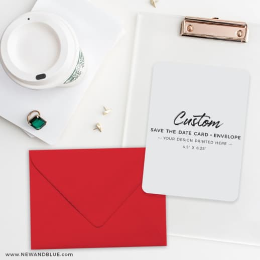 Custom Wedding Save The Date Cards