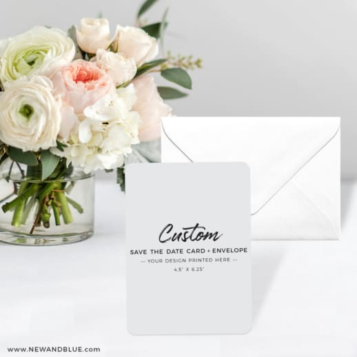 Custom Save The Date Cards And Envelope