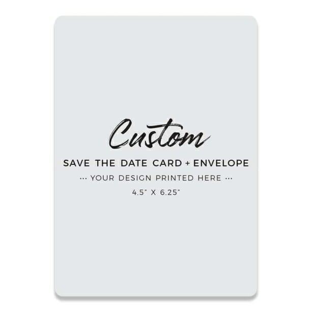 Custom Save The Date Card
