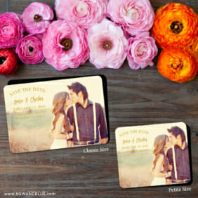 Breaking News 2 Save The Date Magnet Classic And Petite Size1