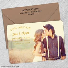 Breaking News 5 Save The Date With Optional Color Envelope1