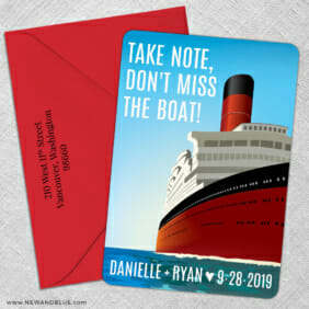 Cruisin 5 Save The Date With Optional Color Envelope1