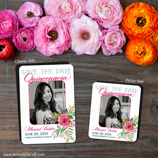 Dulce Quinceanera 2 Save The Date Magnet Classic And Petite Size1