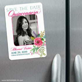 Dulce Quinceanera 3 Refrigerator Save The Date Magnets1