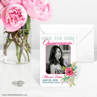 Dulce Quinceanera 6 Wedding Save The Date Magnets1