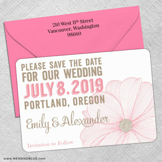 Emily 5 Save The Date With Optional Color Envelope1